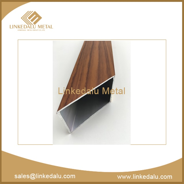Aluminum door and window profiles (wooden color wooden paper heat transfer)