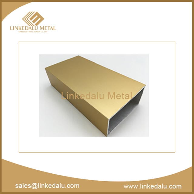 aluminum rectangular tube (gold anodizing)